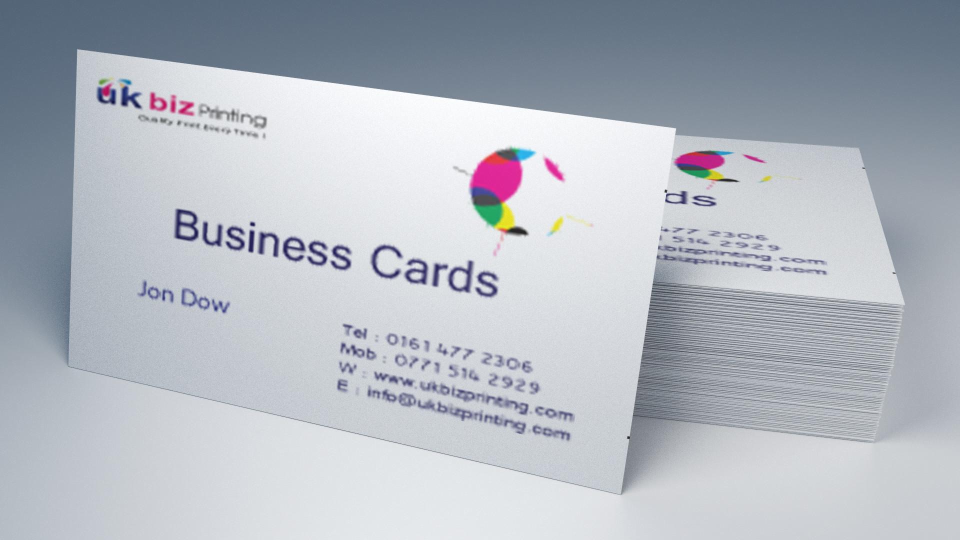 square 450gsm silk business cards
