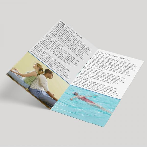 DL Gloss Laminated 4pp (105 x 210mm) Half Fold