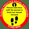 Floors sticker covid19