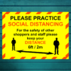 A2 KEEP YOUR DISTANCE SIGN