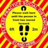 500 x 500 square floor sticker