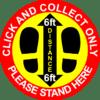 covid-19 click and collect floor sticker